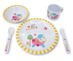 culina kids melamine dinnerware lamb set of 5