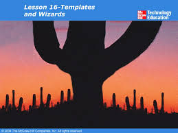 lesson 16 templates and wizards overview use word templates