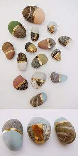 diy painted stonespaint special found stones with chalk and
