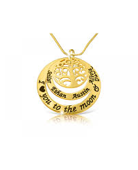 The Name Necklace Family Tree Necklace Gold Plated Name Necklace The Name Necklace