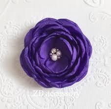 the hair grip purple fabric flower clip brooch bridesmaid hair accessories