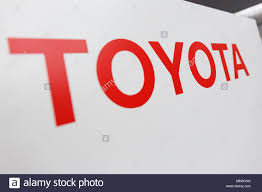 toyota motor credit number a signboard of toyota motor corp on display during a news