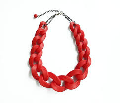 red chain link necklace images Red oversized chain necklace cherry red chain link necklace etsy jpg