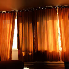 Sheer Curtains Orange Curtain Curtain Orange Sheertains Walmart Burnt Colored At