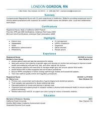 rn resume templates resume for registered resume templates