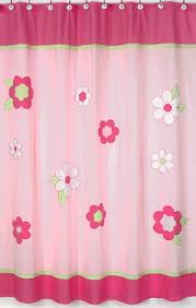 Pink Green Shower Curtain Flower Pink And Green Shower Curtain Home Kitchen