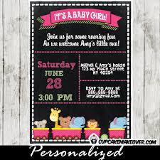 baby shower chalkboard safari animals baby shower chalkboard invitation