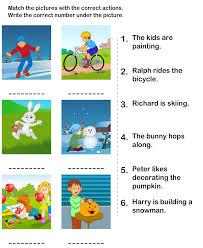 action verbs worksheets esl efl worksheets kindergarten