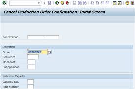 sap production order table sap pp canceling production order