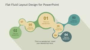 flat fluid layout design for powerpoint slidemodel