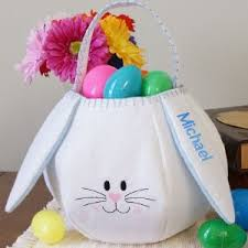 personalized easter egg baskets personalized easter gift basket blue bunny my easter gift ideals