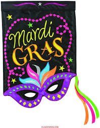 Monogram House Flags Mardi Gras Mask Double Applique Garden Flag Mardi Gras Mask