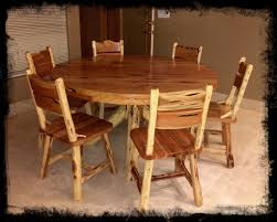 5 u0027 round cedar dining table cedar furniture dining table log