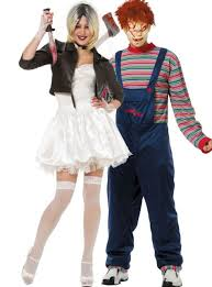 city costumes of chucky and chucky couples costumes party city