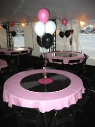 sock hop table decorations  iron blog with table deco for  s or rockabilly s party decorationsballoon  decorationssock hop from irondalecdacom