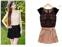 dress jumpsuit casual lace bowtie shorts romper dress jumpsuit free