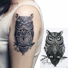 buy temporary owl tattoo and get free shipping on aliexpress com