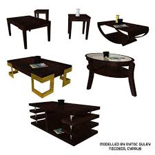 Low Table Set - 3d coffee table set 1 game ready cgtrader
