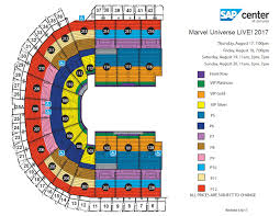 United Center Seating Map Marvel Universe Live Age Of Heroes Sap Center