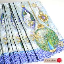 own p rakuten global market guest towel napkin peacock punch