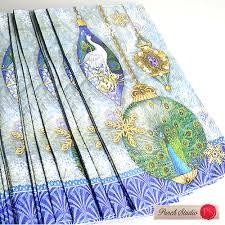 own p rakuten global market guest towel napkin peacock punch