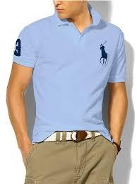 ralph lauren light blue high visibility polo shirt with pocket big polos pony