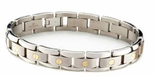 mens bracelet titanium images Men 39 s titanium bracelet with 14k gold elements only 349 00