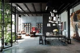 Loft Interior Milan Loft Design With Dark Industrial Metals In Decor Digsdigs