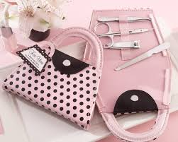 manicure set favors pink polka dot manicure set bridal shower favors by kate aspen
