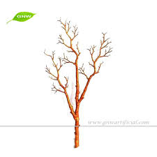 4ft golden color pe artificial tree branches for decoration