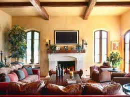 Spanish Style Home Interior Captivating Living Room In Spanish Painting With Diy Home Interior