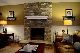 decoration amazing cobblestone fireplace of interior wonderful stone