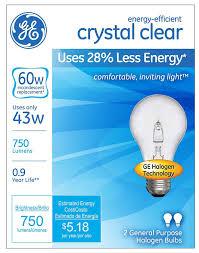 ge lighting 78796 energy efficient crystal clear 43 watt 60 watt