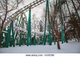 abandoned theme park rusutu hokkaido japan stock photo royalty