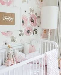 baby nursery with pink and gold theme baby nursery
