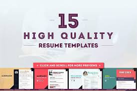 attractive resume templates the best cv resume templates 50 examples design shack 15 resume templates ultra bundle