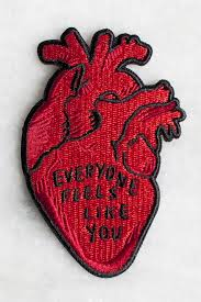 everyone feels iron on patch stay home club