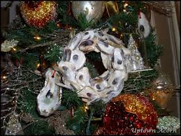 the uptown acorn oyster shell wreaths