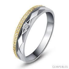 alliance or blanc homme alliances femme 2 ors or blanc jaune diamants anneau à facettes