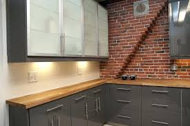 brick red kitchen cabinets dining set in java gel stain and brick