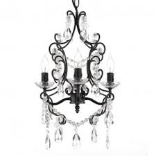 Gallery 74 Chandelier Mini Black Chandeliers With Crystals Foter