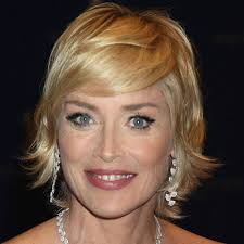 short hairstyles with side swept bangs for women over 50 13 sharon stone hair awesome over 50 hairstyles page 1 of 1