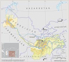 Aral Sea Map Amu Darya River Map Special Offers
