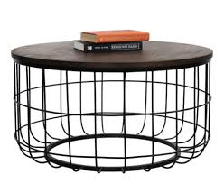 wire and wood basket side table industrial wire coffee table urban9 5 urban 9 5