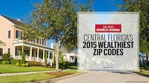 Zip Code Map Orlando Fl by Wealthiest Zip Codes Here U0027s Where C Fla U0027s Top Earners Reside