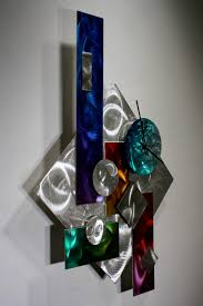wilmos kovacs rainbow art metal wall sculpture unique abstract