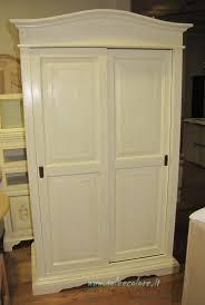 Ikea Armadi Con Ante Scorrevoli by 291 A Armadio Legno Ante Scorrevoli Bianco Decape U0027 Stile Country