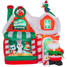 christmas inflatables airblown santa s pet shop