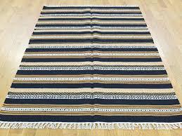 4 u0027x6 u0027 hand woven striped reversible kilim pure wool flat weave rug