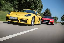 2018 audi tt rs vs 2017 porsche 718 cayman s